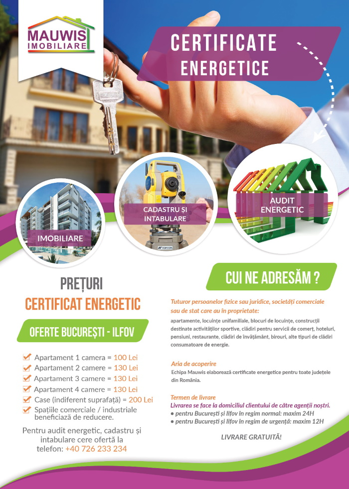 Certificat energetic Mauwis